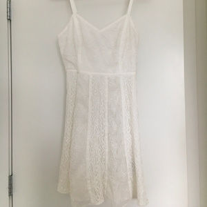 White Forever 21 Lace Dress